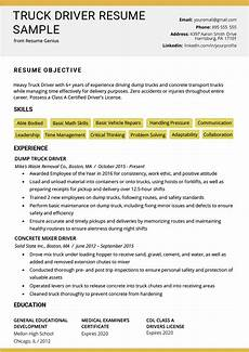 Trucking Resume Examples Truck Driver Resume Sample And Tips Resume Genius