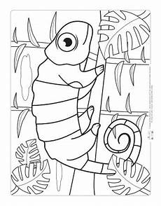 safari and jungle animals coloring pages for