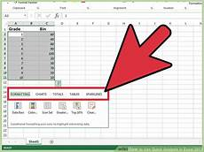 Quick Analysis Tool Excel How To Use Quick Analysis In Excel 2013 8 Steps With
