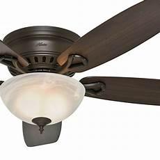 Ceiling Light Repair Hunter Fan 52 In Low Profile Ceiling Fan In New Bronze