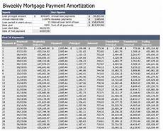 Amortization Chart Mortgage Biweekly Mortgage Payment Amortization Template