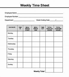 Example Of Timesheet For Employee Free 18 Sample Weekly Timesheet Templates In Google Docs