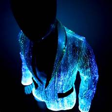led jacket for platinum glow in fiber optic