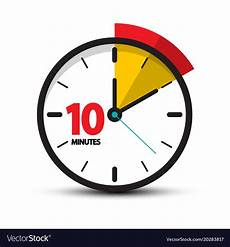 Timer 10 Minutes 10 Minutes Clock Face Ten Minute Icon Royalty Free Vector