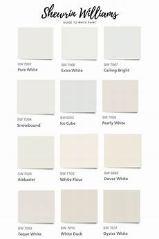 Sherwin Williams White Color Chart The Best Sherwin Williams White Paint Colors In 2020 In