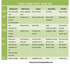 Diet Chart For Two Years Baby Free Printable Food Chart For 2 Year Old Bumps N Baby 2