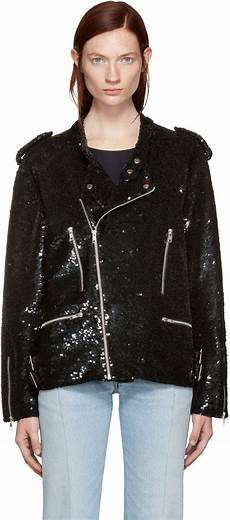 motorcycle clothes for sequin ashish black sequin biker jacket modesens jackets