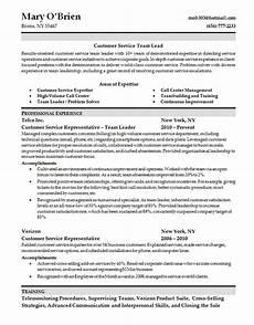 Customer Service Skills On Resume Customer Service Skills Resume Team Lead