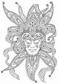 bouffon venetian mask coloring page free printable