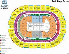 Usair Arena Seating Chart Us Bank Arena Seating Chart With Rows And Seat Numbers