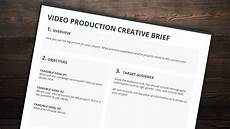 Video Project Template The Best Creative Brief Template For Video Creatives Free