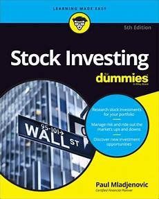 Reading Stock Charts For Dummies Stock Investing For Dummies By Paul Mladjenovic Paperback