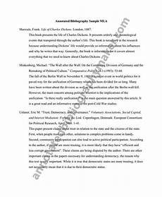 Mla Formatted Bibliographies Mla Format Annotated Bibliography