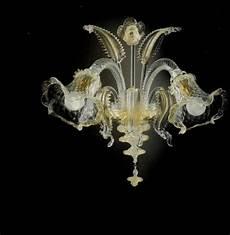 applique vetro di murano 51 applique 2 in vetro di murano cristallo oro con