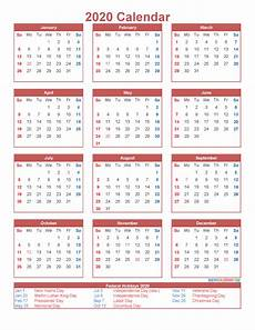 Printable 12 Month Calendar On One Page Free Printable 12 Month Calendar On One Page 2020 Free