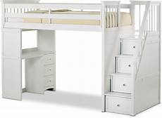flynn loft bed with storage stairs and desk value city