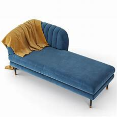 Navy Chaise Sofa 3d Image by 3d Kensington Chaise Navy Cgtrader