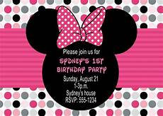 Printable Minnie Mouse Invitations Free Minnie Mouse Birthday Party Invitations Drevio