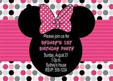 Minnie Mouse Birthday Invitations Free Minnie Mouse Birthday Party Invitations Drevio
