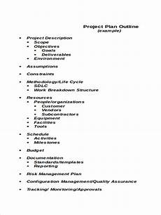 Sample Project Outline Project Plan Outline