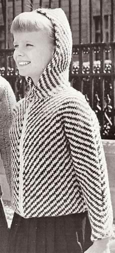 vintage knitting pattern hooded sweater jacket ebay