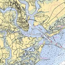 Charleston Sc Nautical Charts South Carolina Charleston Harbor Nautical Chart Decor