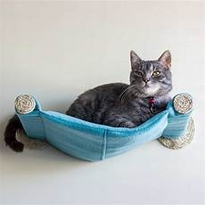 cat hammock wall mounted cat bed teal