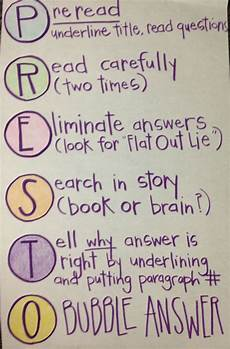 Testing Strategies Anchor Chart Five For Friday Anchor Charts Reading Anchor Charts