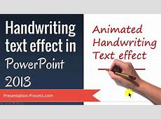 Handwriting text effect in PowerPoint   YouTube