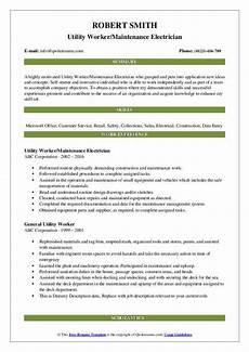 Utility Resume Utility Worker Resume Samples Qwikresume