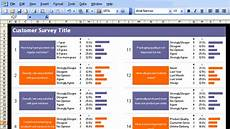 Survey Templates In Excel Excel Customer Survey Template