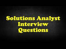 Budget Analyst Interview Questions Solutions Analyst Interview Questions Youtube