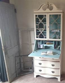 made vintage hutch cabinet desk small