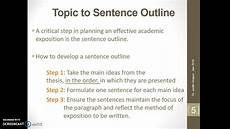 Examples Of Topic Sentences For An Essay Classification Topic To Sentence Outline Youtube