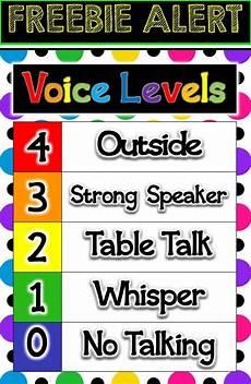 Voice Chart Voice Levels Freebie Voice Level Charts Classroom Charts