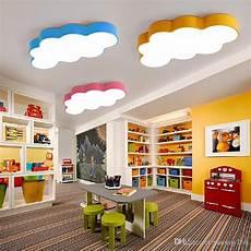 Baby Girl Room Light Fixtures 2019 Led Cloud Kids Room Lighting Children Ceiling Lamp