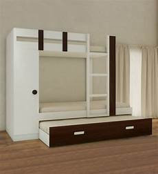 buy evita bunk bed with trundle pullout wardrobe