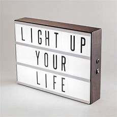 Cinema Light Box Sayings Make Your Words Stand Out In Style This Handmade Dark