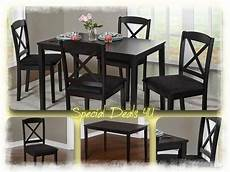 dining room set table chairs modern kitchen wood 5 piece