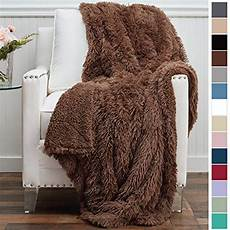 brown mongolian fur and faux fur throw blankets 100