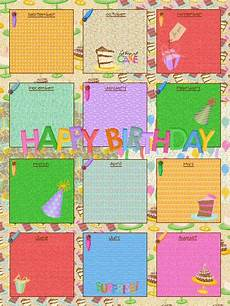School Birthday Calendar School Birthday Calendar