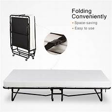 size folding rollaway guest metal bed with memory
