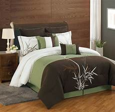 12 cal king bamboo embroidered bed in a bag set