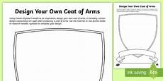 Design A Coat Of Arms Ks2 Design Your Own Coat Of Arms Worksheet