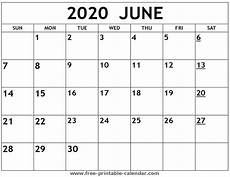 June 2020 Calendar With Holidays Printable 2020 June Calendar Free Printable Calendar Com