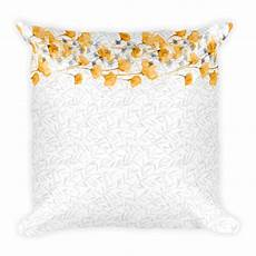 Decorative Throws For Sofa Png Image by Square Pillow Yellow Poppy Collection 07 Pattern Throw