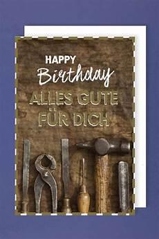 Geburtstag Werkzeug by M 228 Nner Geburtstag Karte Gru 223 Karte Werkzeug Golddruck