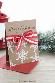 Ribbon Cards Ribbon Bow Christmas Card 187 Oh Everything Handmade