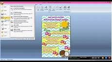 How To Make Invitations On Microsoft Word Create Invitation Using Power Point Youtube