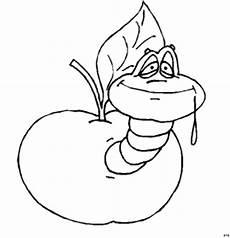 Malvorlagen Apfel Mit Wurm Wurm Frisst Sich Durch Apfel Ausmalbild Malvorlage Comics